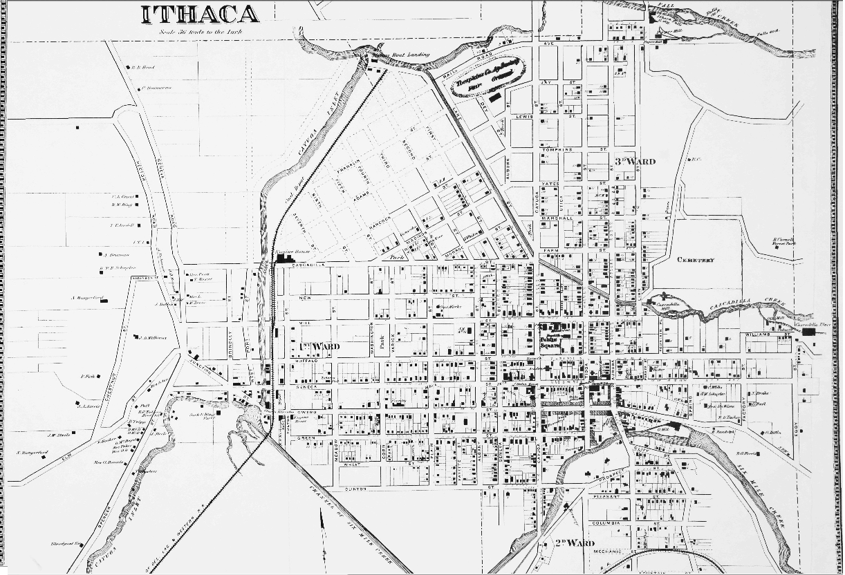 Collegetown Property Owners Map Ithaca